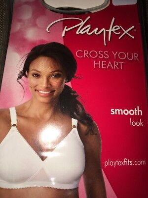 58ccc55b0b NEW Playtex Cross Your Heart Lightly Lined Wirefree Bra Women s 0655 Smooth  Look