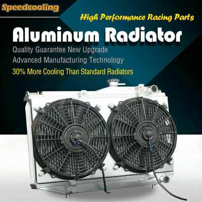 52MM ALUMINUM RADIATOR + Fan Shroud For Toyota Corolla AE86 L4 1 6 84-87  Manual