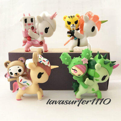 Tokidoki Unicorno & And Friends Lot Salaryman & Wasabi Rosa Latte Yuma Biscotti
