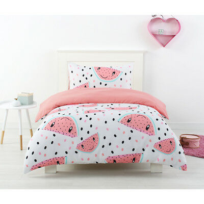 KIDS Watermelon QUILT COVER SET Fruit salad Melon printed happy Kids SINGLE Bed