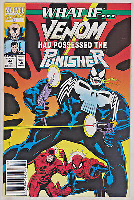 What If#44 Vf/nm 1992 Venom & Punisher Newstand Edition Marvel Comics