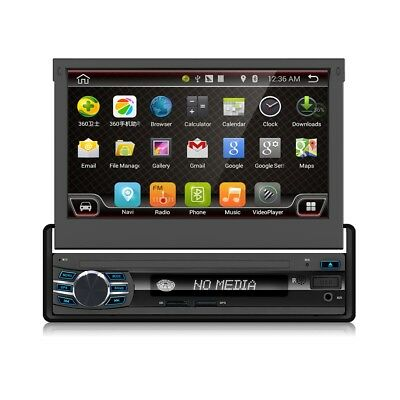 """7"""" Android 6.0 Flip-out Screen GPS SAT NAV Bluetooth Car Stereo 32G WIFI Camera"""