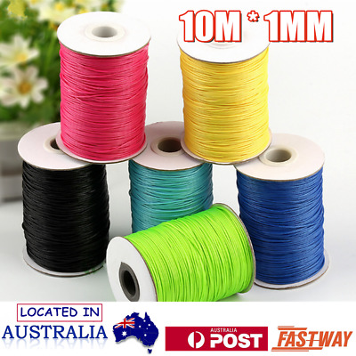10M Waxed Polyester Thread Cord Beading Jewellery Bracelet Necklace String DIY