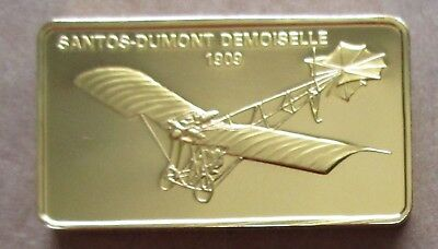The Janes Medallic Register..santos-Dumont Demoiselle 1909..Gold On Bronze