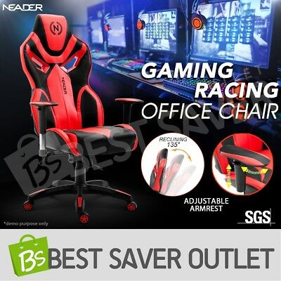 Sport Gaming Office Computer Chair PU Leather Executive Recliner Seat Home Race