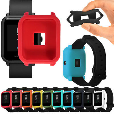 TPU Protection Silicone Full Case Cover For Huami Amazfit Bip Youth Watch Belt