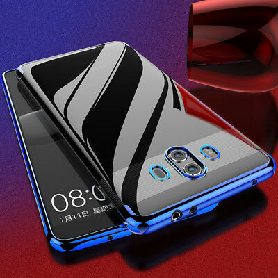 For Huawei Mate 8 9 10 lite 360°Shockproof Transparent plating Silicone TPU Case