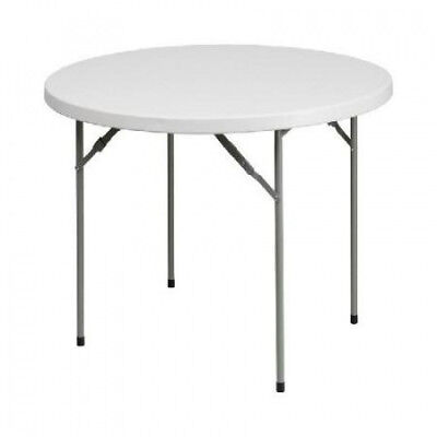 (Granite White) - White Folding Table FLSRB48RGG. Flash Furniture