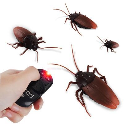 Remote Control Realistic Fake Cockroach RC Prank Insects Trick Toys