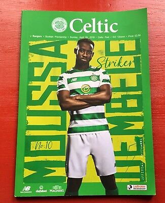 Celtic v Rangers 29th April 2018 Official Matchday Programme, Brand New & Mint