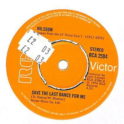 """Nilsson - Save The Last Dance For Me  - 7"""" Record Single"""