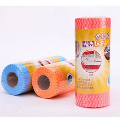 Roll-Shaped Breakpoint Non-Woven Fabric Tear Disposable Cleaning Dish Towel VV
