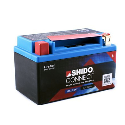 SHIDO LTX12-BS Lithium-Ion Connect Battery 12V LiFePO4 (YTX12-BS) Motorcycle