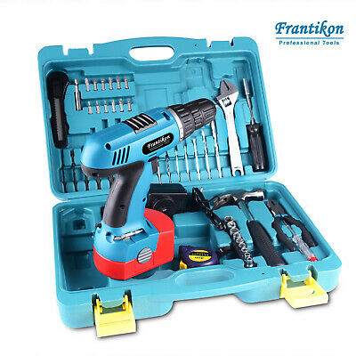 50pc 18V Cordless Drill Driver Power Hand Tool Set W/ Storage Case