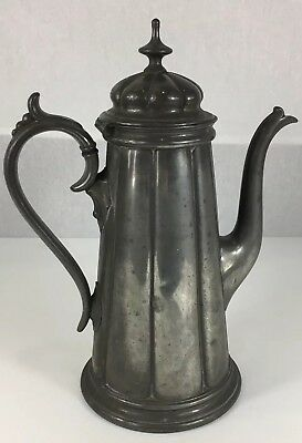 Antique Pewter Philip Ashberry & Sons Coffee Pot 30cm In Height