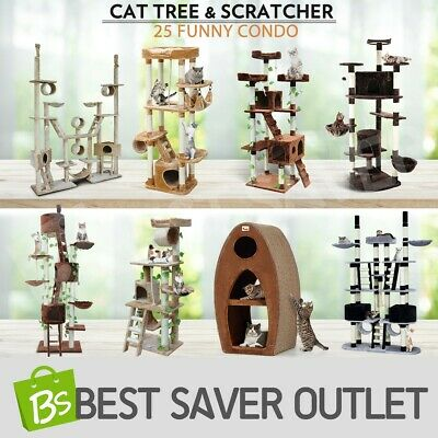 Cat Tree Scratching Post  Gym House Condo Furniture Scratcher Pole Toy