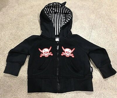 Rock Your Baby Size 00 Black hooded jacket CUTE! Preloved