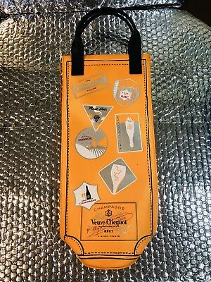 VEUVE CLICQUOT BRUT CHAMPAGNE 750 ML ORANGE Insulated gift bag