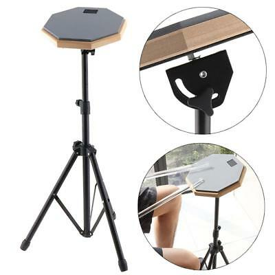 8 inch Wooden Dumb Drum Soft Rubber Double Side Practice Pad with Matel Stand