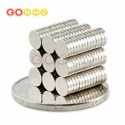 100Pcs 5x1mm Small Fridge Magnets Disc Ring Strong Rare Earth Neodymium N35