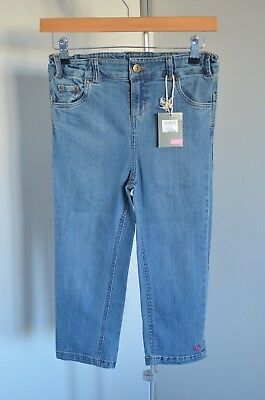 BNWT JOULES Girls cropped denim jeans 11-12 yrs