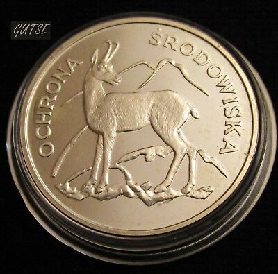 Poland, 100 Zlotych 1979, Chamois, Silver, Proof.