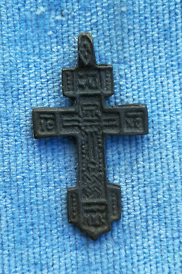 RARE 14-15th CENTURY BRONZE ORTHODOX SWORD-SHAPED *CRUSADER'S* CROSS