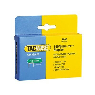 Tacwise 345 140 Heavy-Duty Staples 6mm (Type T50 G) Pack 2000