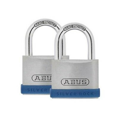 ABUS Mechanical 80888 40mm Silver Rock 5 Padlock Twin Pack