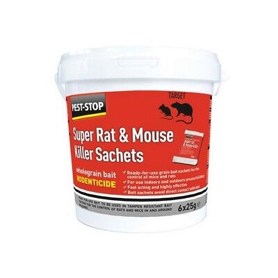 Pest-Stop Systems PSSA05 Super Rat & Mouse Killer Sachets (Tub of 6)