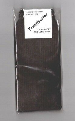 VINTAGE Trendsetter, Mens Socks, Brown,Retro 60's 70's New in Pack