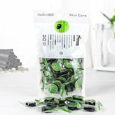 DIY Compressed Mask Paper 30 PCS Bamboo Charcoal Disposable Face MaskF3