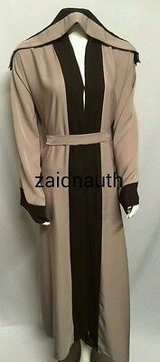 Women open front abaya.japanese Neda material. sizes 54.56.58