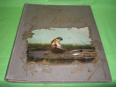 Vintage 1914 Scrap Book; Includes Magazine Print & Paper Clippings