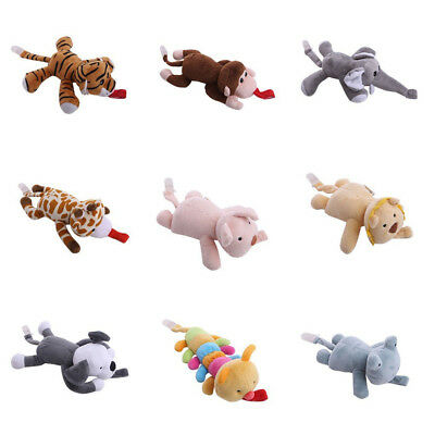 Newborn Baby Infant Plush Toy Dummy Pacifier Clip Animal Soother Nipples Holder