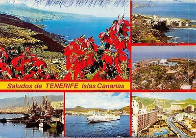 Spain Saludos de Tenerife Islas Canarias multiviews Santa Cruz Ship Harbor