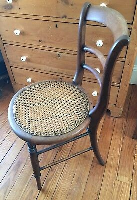 Antique Accent Chair Caned Seat