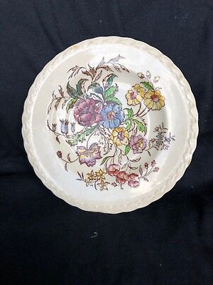 Vernon Kilns Hand Painted Plate. May Flower