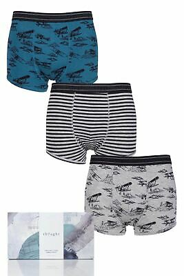 Mens 3 Pair Thought Wings Bamboo and Organic Cotton Briefs In Gift Box