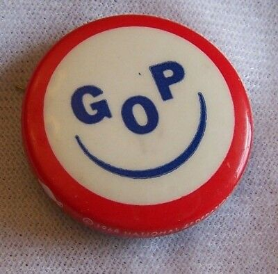 "Gop Smiley Face 1968 Campaign 1 ¼"" Pinback"