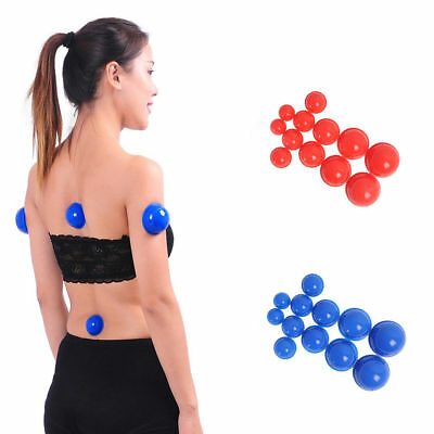 12X Silicone Medical Vacuum Massager Cupping Cups Body Therapy Anti Cellulite HS