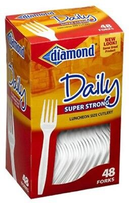 Diamond 41426-00115 Heavy Duty Plastic Forks, 12 PACK 48 Count TOTAL 576