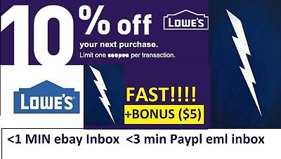 THREE 3x Lowes 10% OFF Coupons Discount - Lowe's In store/online +BONUS INFO $5