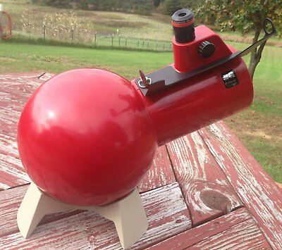 Vintage Red Edmund Scientific Astroscan Telescope With Base & 15mm RKE Eyepiece