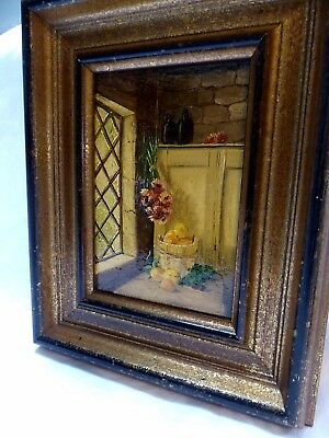 Oil Painting (France) STILL LIFE, inside a house of France, early 20th Century