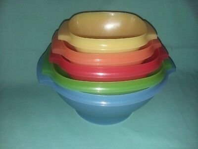 Tupperware Servalier Bowls Set of 5 Without Lids
