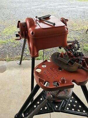"Ridgid Model 400 Pipe Threader W/ 450 Tri Stand, #2 Pipe Cutter & # # 65R 1""-2"""