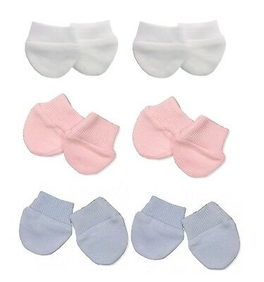 Early Baby Premature Baby Anti Scratch Mittens 2PK Girls Boys Twins