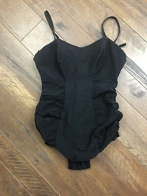 1940's 1950'S Rose Marie Reid Of California Swimsuit MAGIC LENGTHS BLACK