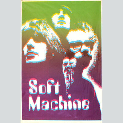Soft Machine. Psychedelic Pur. Absolut seltenes Originalposter um 1969.